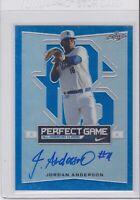 2016 Leaf Perfect Game All-American #BA-JA1 Jordan Anderson Autograph /50