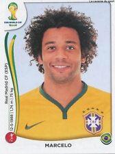 N°038 MARCELO # BRASIL STICKER PANINI WORLD CUP BRAZIL 2014