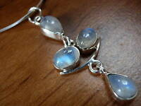 NICE! Moonstone 925 Sterling Silver Pendant India