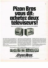 PUBLICITE ADVERSTISING  1969   PIZON BROS   téléviseur