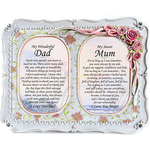Mum And Dad Personalised Gift Frame- Birthday, Christmas, Anniversary, Thank You