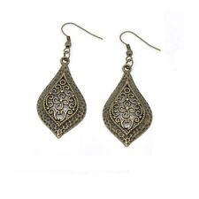 Antique Bronze Dangle Drop Earrings - Bohemian - Art Deco