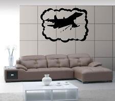 Airplane Airforce Jet  Aviation Air Mural  Wall Art Decor Vinyl Sticker z553