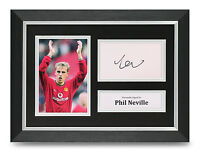Phil Neville Signed A4 Photo Framed Man United Memorabilia Autograph Display COA