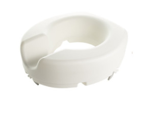 """Elevated Toilet Seat without lid 10cm rise 4"""" Portable Home Aid White 114kg NEW"""
