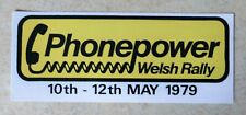 1979 Phonepower Welsh Rally Motorsport Sticker / Decal