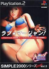 Used PS2 SIMPLE2000 series Ultimate Vol.5 Love  Mahjong! Import Japan