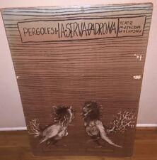 Pergolesi- La Serva Padrona - Teatr Muzygznv W Stupsku Original Poster Print