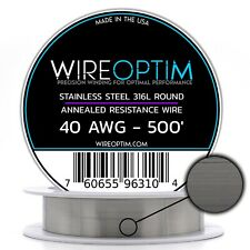 SS 316L - 40 AWG Stainless Steel Wire 316L 0.0799mm - 500'