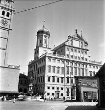 ALLEMAGNE c. 1957 - Hôtel de Ville  Augsbourg - Négatif 6 x 6 - ALL 1