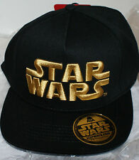 STAR WARS Baseball Snapback CAP Mütze Cappie Kappe black golden Aufdruck NEU