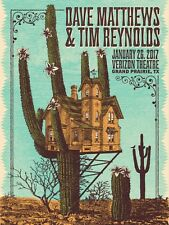 Dave Matthews & Tim Reynolds Poster 2017 Grand Prairie Tx Signed & Numbered #755