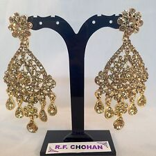 Diamante glamour Gold Fashion earrings,prom,party,brides, mehndi SV5-610G/LCT