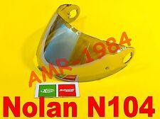 VISIERA ORIGINALE NOLAN N104 SILVER METAL SPECCHIATA  NMS-03S  da XXS a L