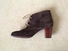 Phase Eight Chocolate Brown Suede Lace Up Shoes With Heels Size UK5 Worn Once!