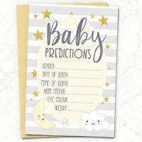 10 x Baby Shower Games Prediction & Advice Cards ~ Words of Wisdom