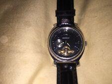 Ladies Stainless Steel Prague Watch Mechanical Sapphire Coated/ Skeleton Window