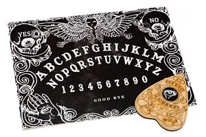 Black Wooden Ouija Board game with Planchette and instruction Spirit Hunt