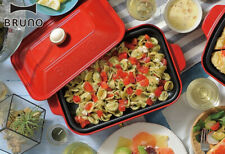 BRUNO Hot Plate Takoyaki & Flat plate set Griddle Recipe Book & Takoyaki pick