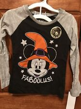 NWT! Disney Minnie Mouse Halloween/Witch Faboolus Long Sleeve T-shirt 3T