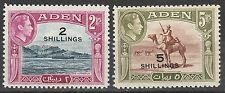 ADEN 1951 KGVI PICTORIAL SURCHARGE 2/- AND 5/- */**