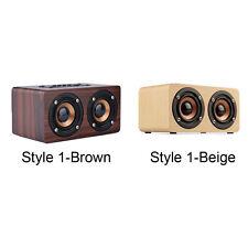 Retro Wood Bluetooth Wireless Speaker Portable Mini 3D Loudspeakers USB altavoz