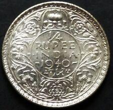 India British-1/4 Rupee 1940 B in a UNC / UNC condition.