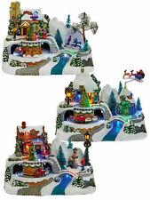 Animated Village Christmas Decoration Ornament Moving Train Light Up LED Snow