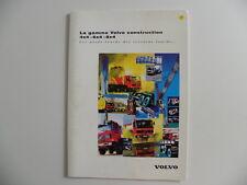 Brochure camion VOLVO la gamme Volvo 4 x 4 ; 6 x 4  ; 8 x 4