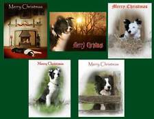 Pack of 5 Christmas Cards for FOSTBC Border Collie Dog Rescue Charity - Pack 1
