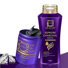 Keratin Charcoal Hair Spa Shampoo Treatment Glossy Shine Nourish Dry Damage
