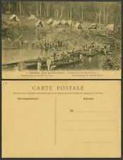 More details for brazil bresil old postcard exploration of rio de peixe, camp tents, boats canoes
