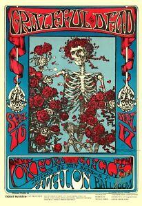 Grateful Dead Music Poster/Avalon Ballroom/Reproduction/Jerry Garcia
