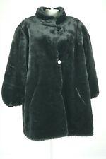 09392 J Percy Women Coat Jacket Reversible Faux Fur Black Size Large Bust 48 2XL