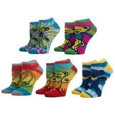 Grateful Dead Band Ankle Socks 5 Pairs Women's Tie Dye Marching Bears Hippy Set