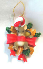 Charming Tails Yule Tied Sweetie Ornament (Mouse) [Retired]