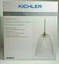 Kichler 1048247 Transitional Clear Glass Cone Mini Pendant Light, Brushed Nickel