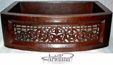 Ariellina Farmhouse 14 Gauge Copper Kitchen Sink Lifetime Warranty New AC1827