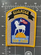 Vintage San Juan Guardia Municipal Patch Puerto Rico PR Police Officer Policia