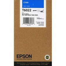 Originales Epson t6022 cian c13t602200 stylus 7800 9800 7880 9880 MHD 01/2020
