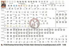 Peddinghaus 1/48 Panzer Corps HG Division Vehicle Markings Sicily 1943 WWII 2062