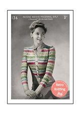 1940's Fair Isle Cardigan Knitting Pattern - Copy