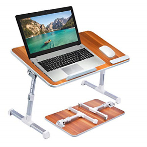 Neetto [Large Size] Adjustable Laptop Bed Table, Portable Standing Desk, Sofa -