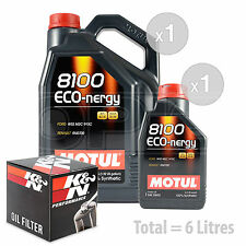 Engine Oil and Filter Service Kit 6 LITRES Motul 8100 Eco-nergy 5W-30 6L