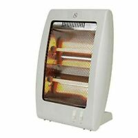 Quartz Halogen Heater Portable Electric Free Standing Home Office 2 Bar 400/800W