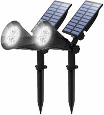 2PACK Solar Power Spot Lights Outdoor LED Garden Lawn Landscape Path Wall Lamps
