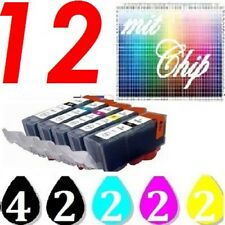 12x Drucker Patrone für Canon PIXMA IP3600 IP4600 IP4700 MP550 MP560 MP640 MP540