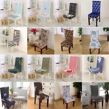 6Pcs Set Dining Room Wedding Banquet Chair Cover Party Decor Seat Cover