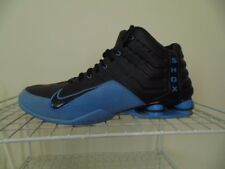 NIKE SHOX BLACK ON BLUE BASKETBALL SHOES 309181 0005 00 MEN SIZE 13 M