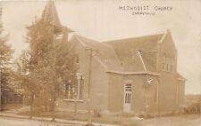 D21/ Summitville Ohio Postcard Real Photo RPPC c1910 Columbiana Methodist Church